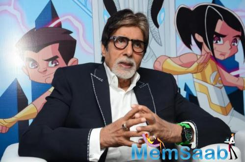Amitabh Bachchan Addresses The Media At The Launch Of New Superhero Series Astra Force