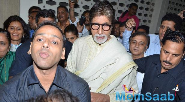 Amitabh Bachchan Arrived At Shilpkar Charitrakosh Marathi Book Reading Event