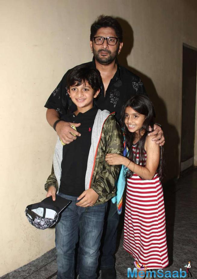 Arshad Warsi, Who Himself Is A Dance Enthusiast, Also Attended The Screening With His Children