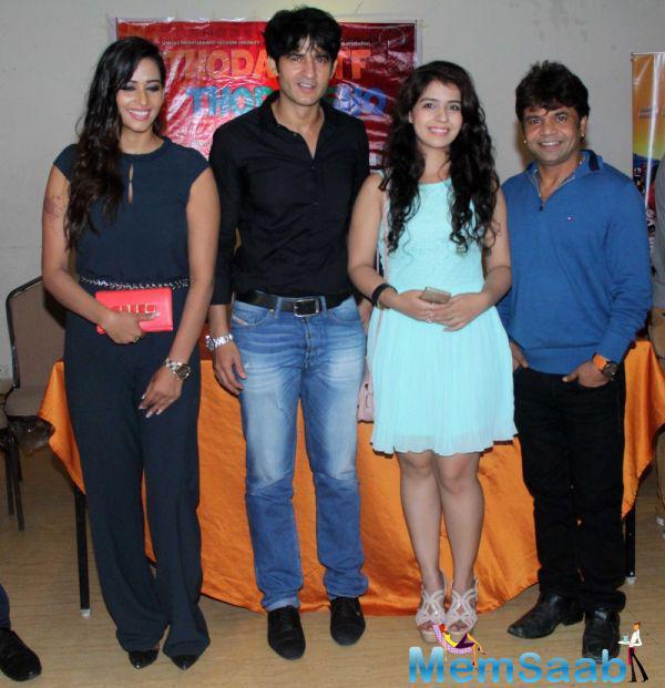 Sanjana Singh,Hiten Tejwani,Neha Pawar And Rajpal Yadav Clicked At The Promo Launch Of Thoda Lutf Thoda Ishq