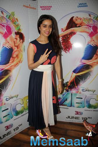 Shraddha Kapoor Looks Pretty During The ABCD2 Interview