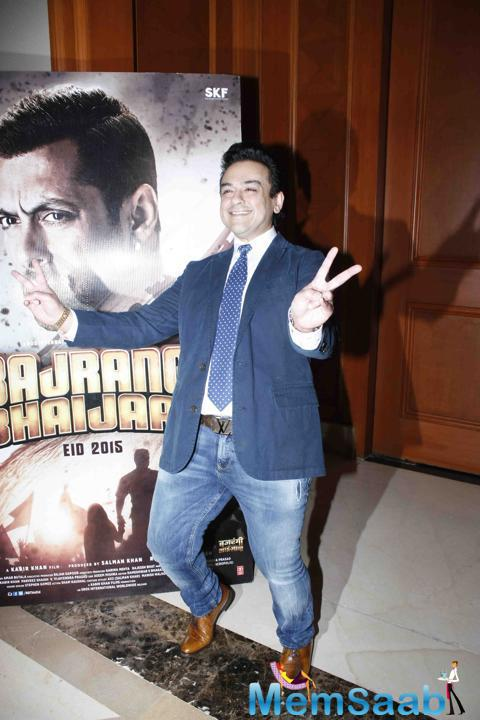 Adnan Sami Cool Pose Of During Bajrangi Bhaijaan Song Launch