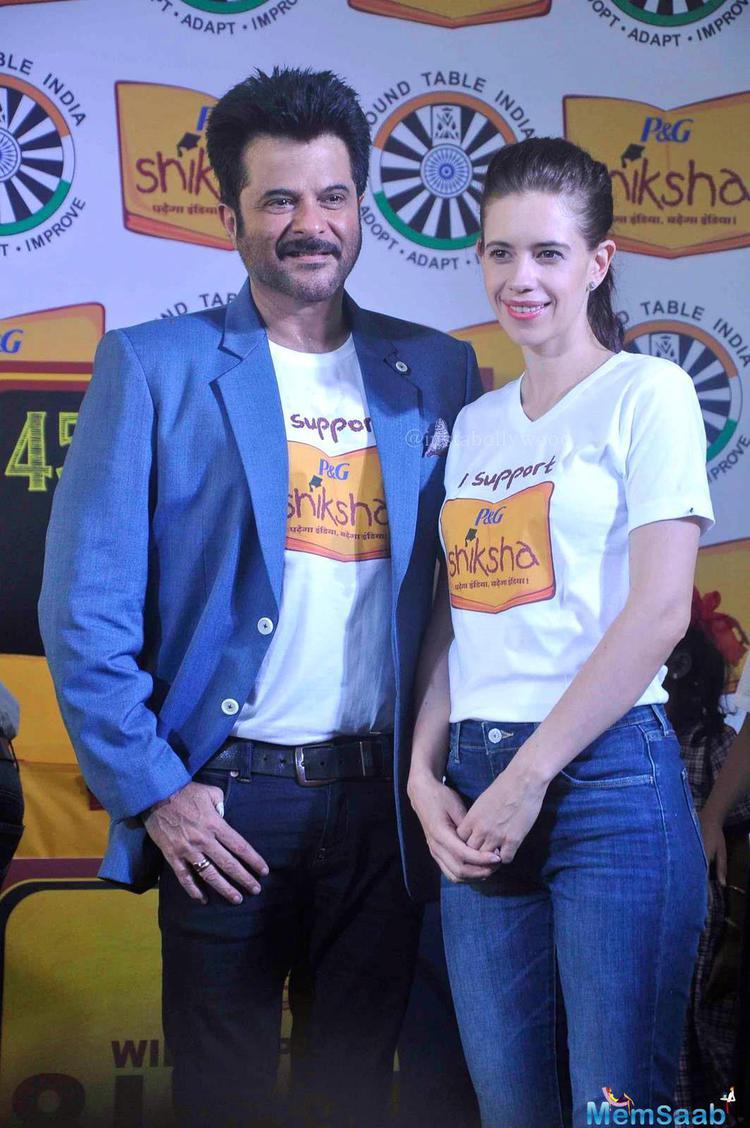 Anil Kapoor And Kalki Koechlin Attend The P&G Shiksha NGO Event