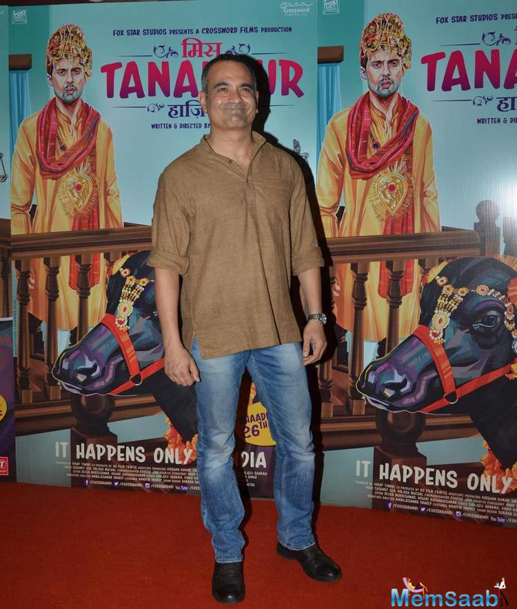 Manish Choudhary Attend The Premiere Of Miss Tanakpur Movie