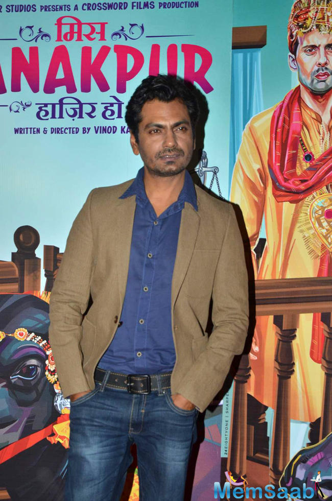 Nawazuddin Siddiqui Posed During The Premiere Of Miss Tanakpur Movie
