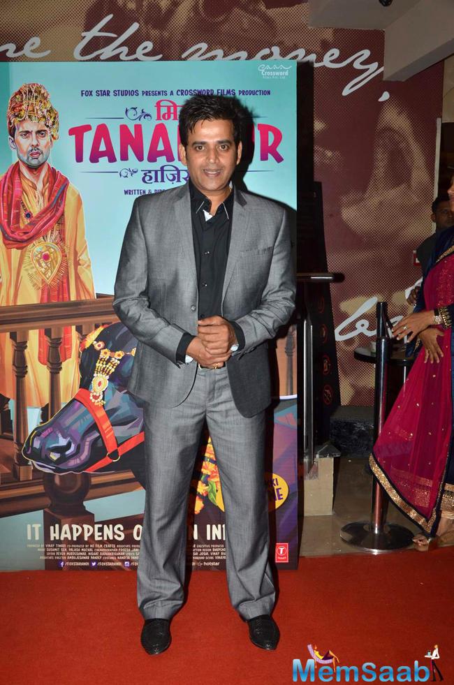 Ravi Kishan Present At The Miss Tanakpur Movie Premiere
