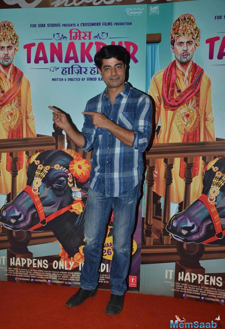 Sushant Singh Strikes A Pose During The Premiere Of Miss Tanakpur Movie