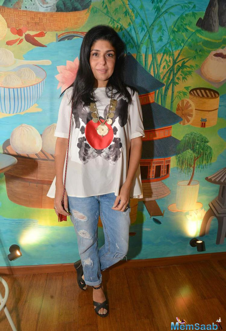 Anaita Shroff Adajania Posed During The Launch Of Fatty Bow Restaurant