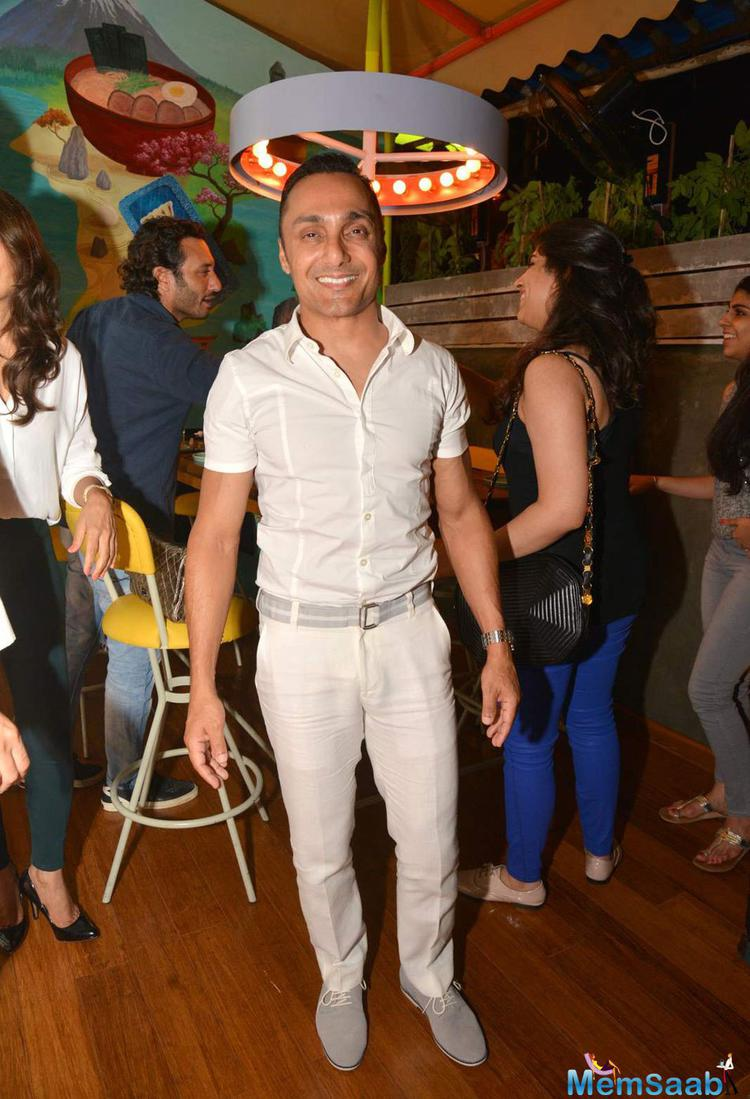 Rahul Bose Smiling Look During Fatty Bow Restaurant Launch