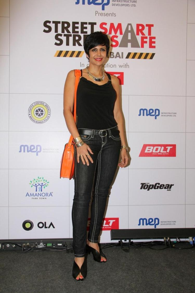 Mandira Bedi Hot Look During The Launch Of Road Safety Campaign