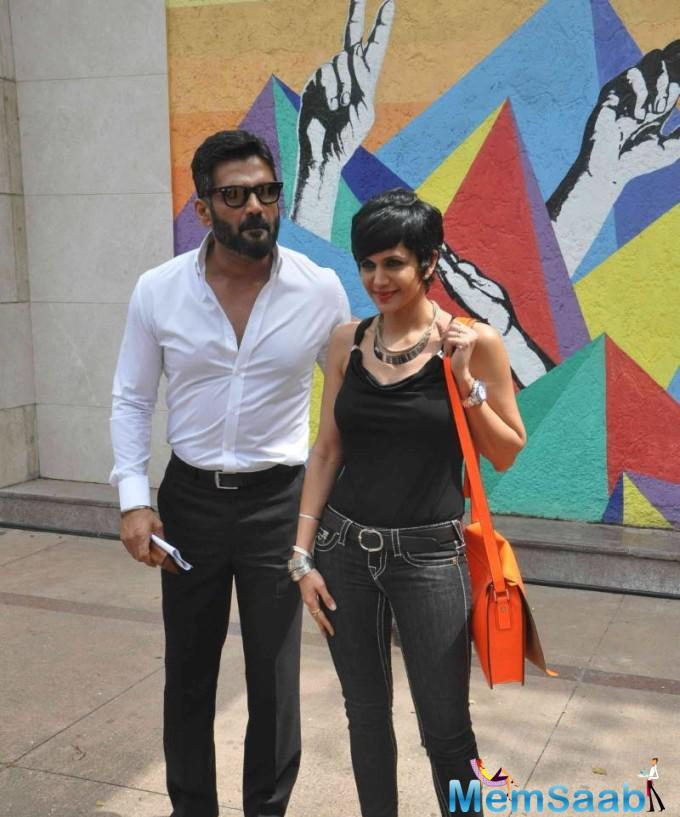 Sunil Shetty And Mandira Bedi Arrived The Launch Of Road Safety Campaign