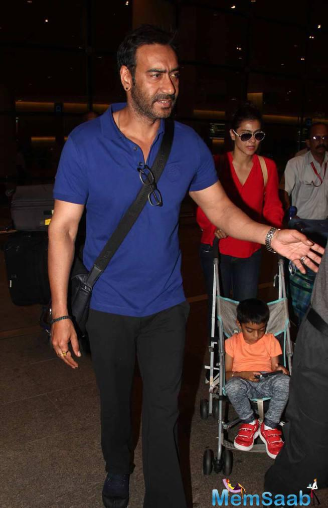 Ajay Devgan With His Family Back From London Holidays