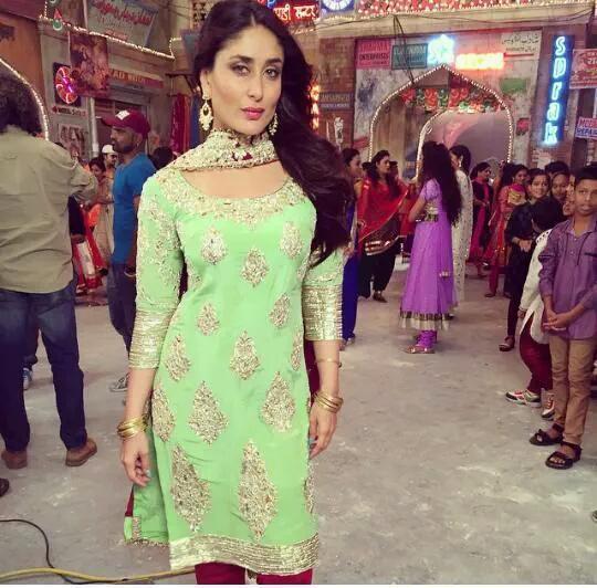 Kareena Looks Ravishing In A Lime Green Manish Malhotra Salwar Suit