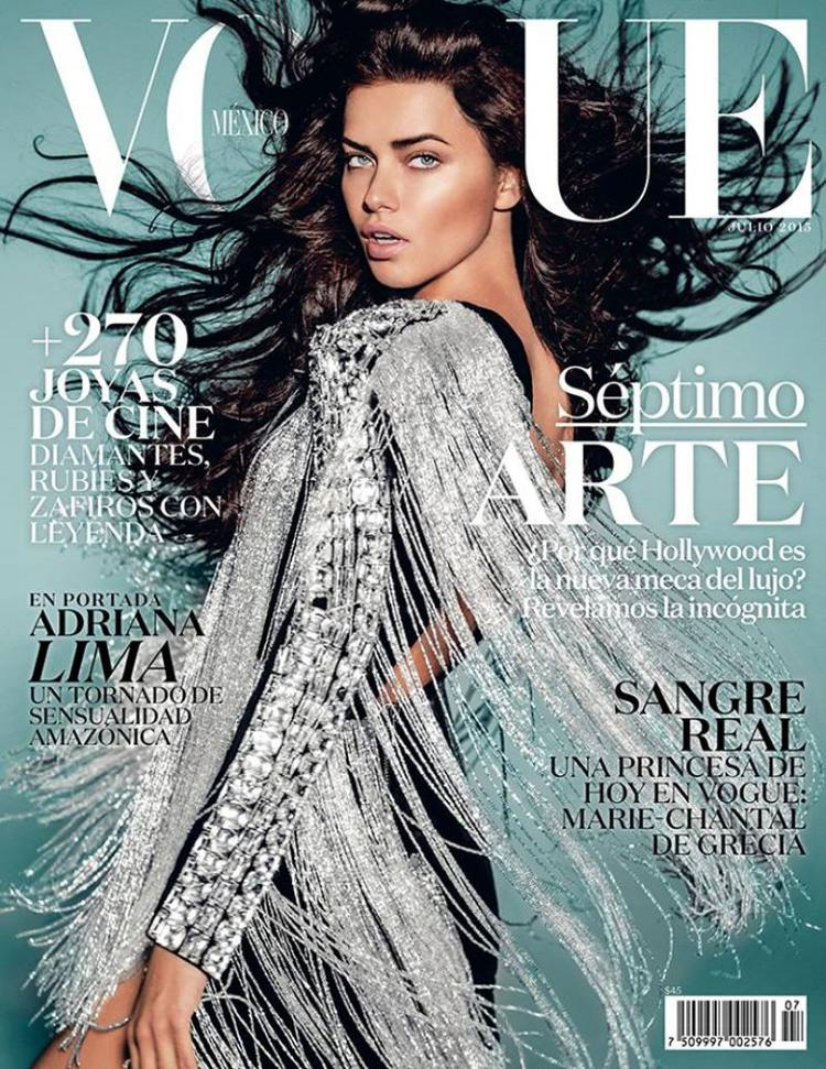 Adriana Lima Gives Us Hair Envy On Vogue Mexico's July 2015 Cover