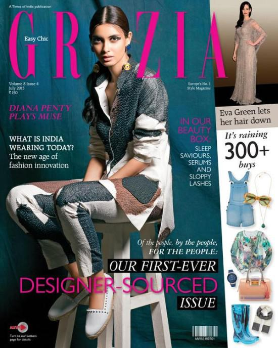 Diana Penty Features On The Cover Of Grazia Magazine's Indian Edition For The Month Of July 2015