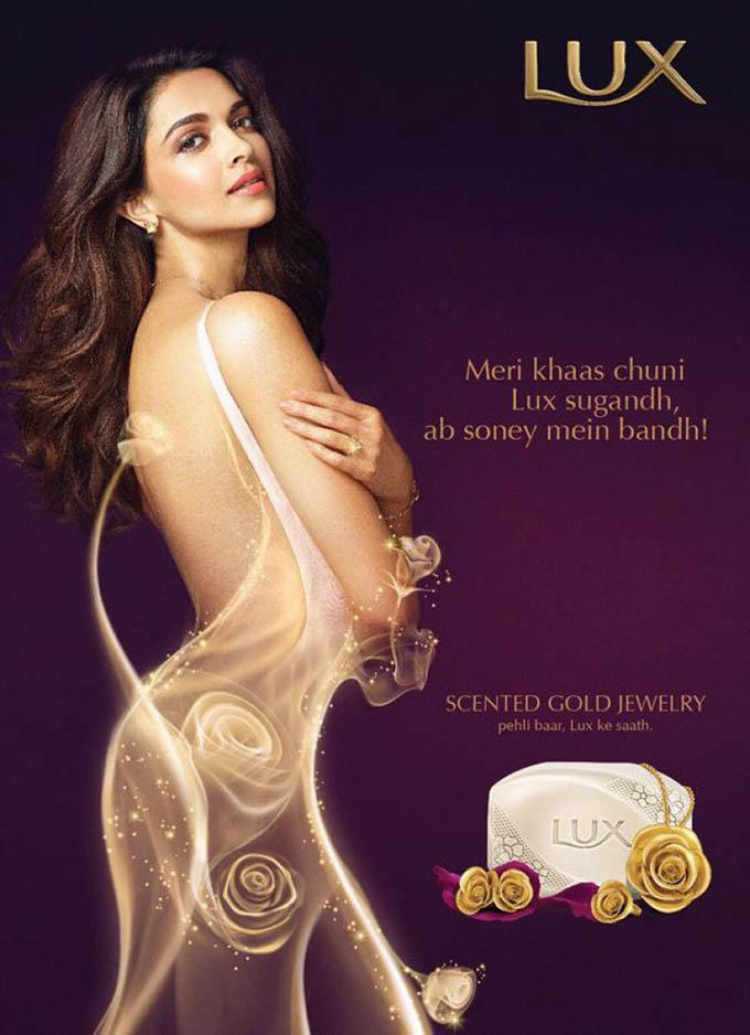 Deepika Padukone Gorgeous Photo Shoot For New Lux Soap Ad