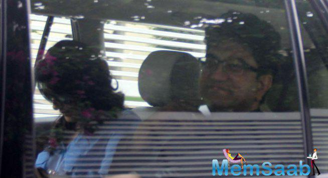 Lyricist And Screenwriter Prasoon Joshi Was Also Seen Arriving In His Car