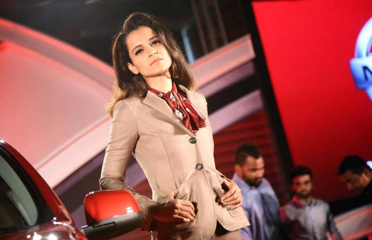Kangana Ranaut Beautiful Look At Nissan Micra X-Shift Car Launch In India