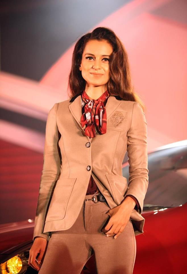 Kangana Ranaut Stunning Look During The Launch Of Nissan Micra X-Shift Car