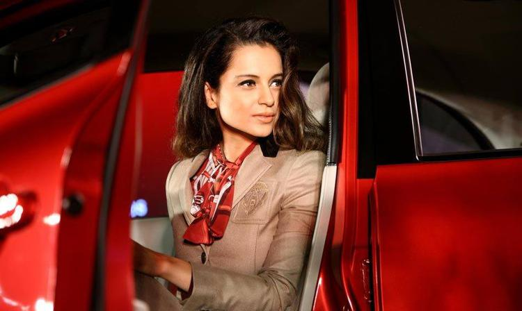 Kangana Ranaut Stunning Look At Nissan Micra X-Shift Car Launch