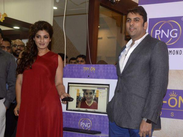 Raveena Tandon Launched PN Gadgil Website
