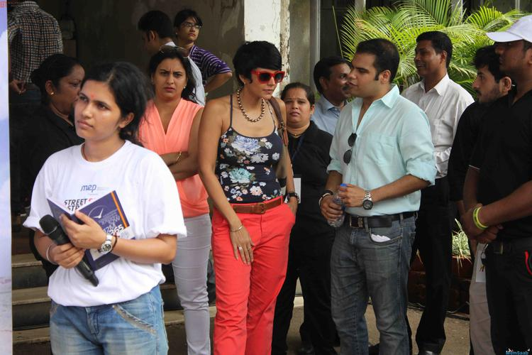 Mandira Bedi Attend The Women Safety Drive Campaign