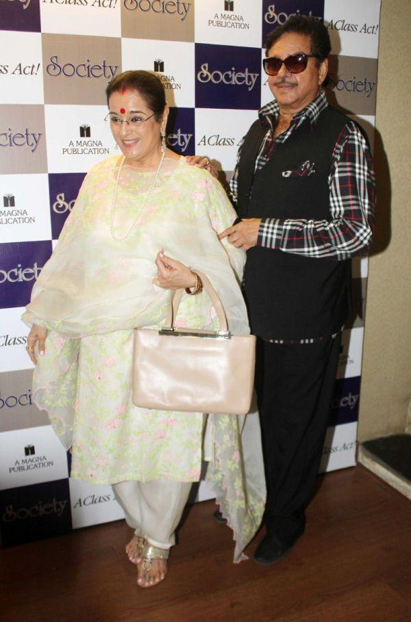 Shatrughan Sinha And Poonam Sinha Arrived The Cover Launch Of Society Magazine