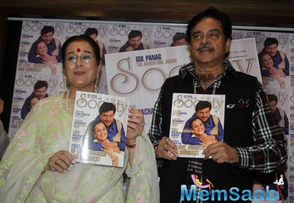 Shatrughan Sinha And Wife Poonam Sinha Launches Latest Society Magazine Cover