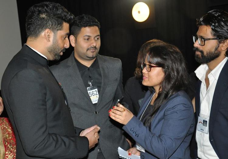 Abhishek Bachchan In Deep Conversation During The Indian International Film Festival