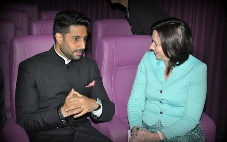Abhishek Bachchan Discussion Still At The Indian International Film Festival