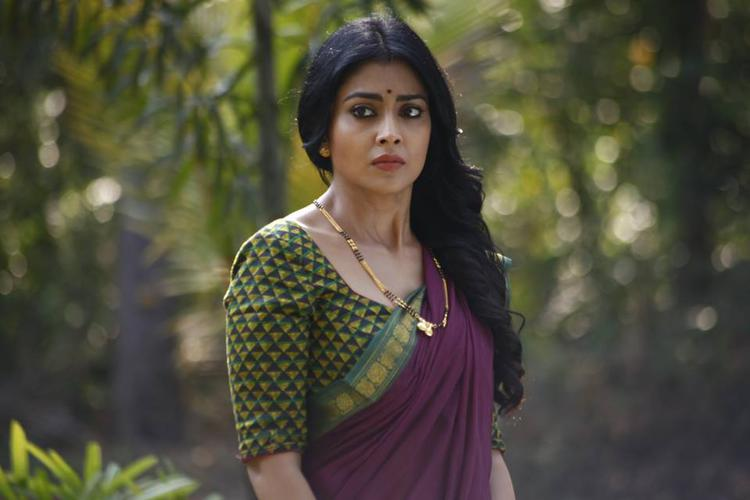 Shriya Saran Traditional Beautiful Look Still From Drishyam Movie