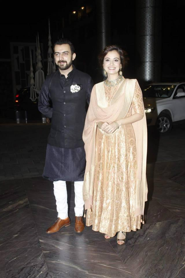 Dia Mirza And Hubby Sahil Sangha Present At Shahid Kapoor And Mira Rajput Wedding Reception