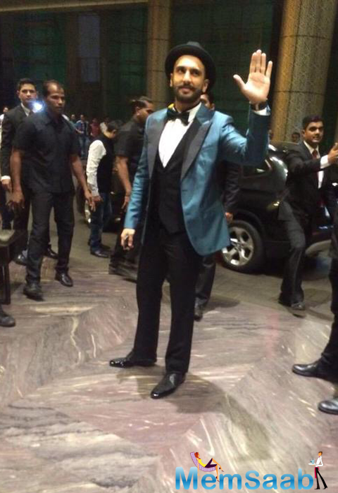 Eclectic Ranveer Singh Arrives For Shahid And Mira Reception