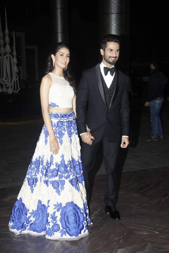 Newly Wed Shahid Kapoor And Mira Rajput Dazzled At Their Wedding Reception