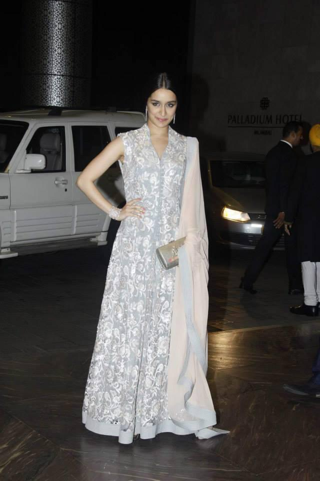 Shraddha Kapoor Stunning Look At Shahid Kapoor And Mira Rajput Wedding Reception