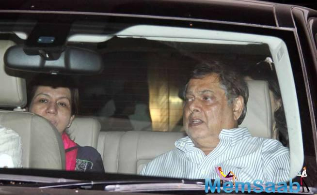 Filmmaker David Dhawan And Wife Karuna Arrived Together For Bajrangi Bhaijaan Screening