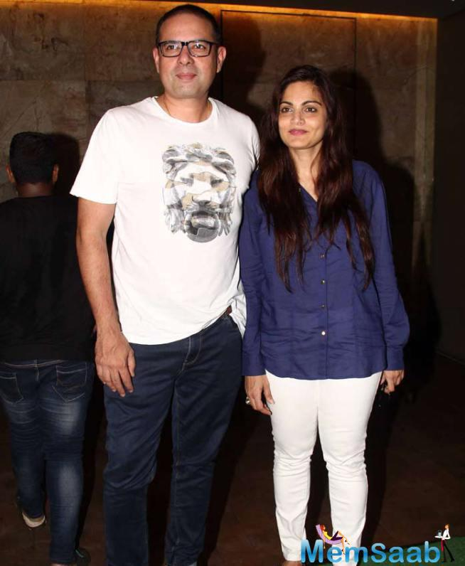 Salman's Other Sister Alvira And Her Husband Atul Agnihotri Arrived Together