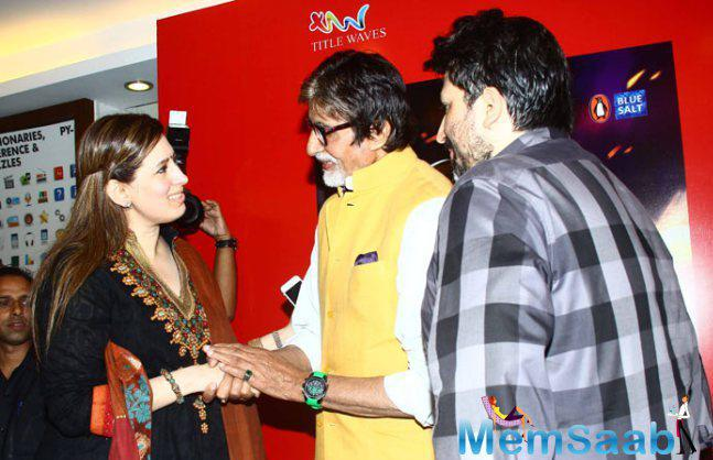 Amitabh Bachchan Meets Amjad Khan's Daughter-In-Law.