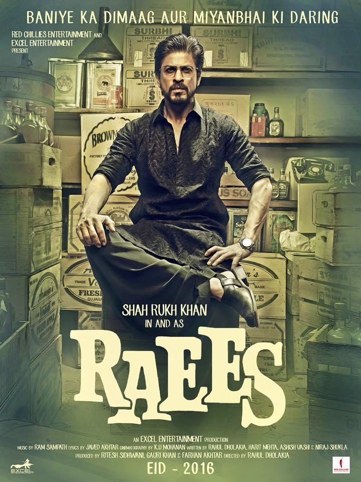 Shah Rukh Khan Angry Pose In Raees Movie First Look Poster