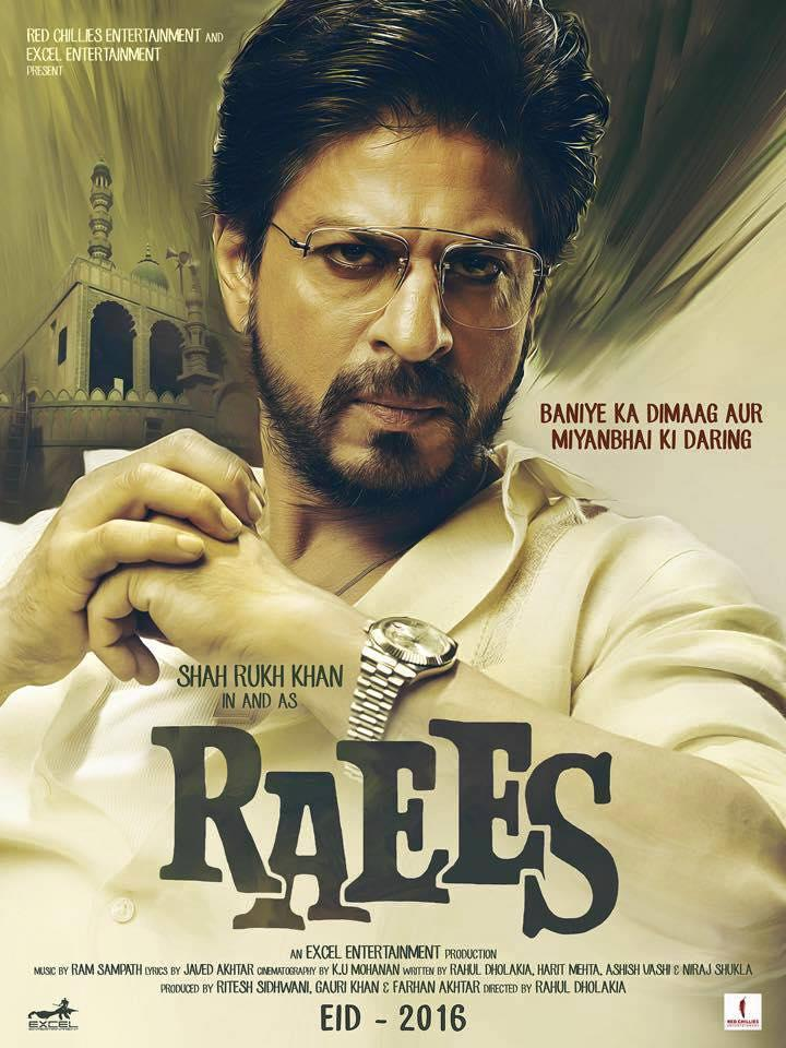 Shah Rukh Khan Deep Thought Look In Raees Movie First Look Poster