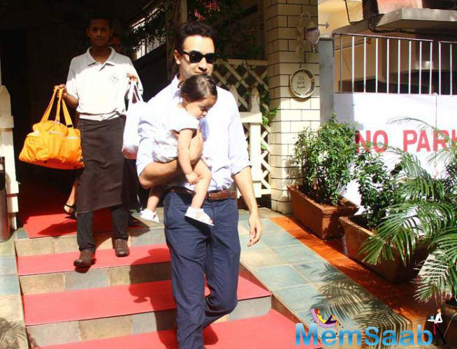 Imran Khan's Outing With Baby Daughter Imaara