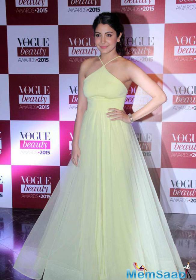 Anushka Sharma Spotted At The Vogue Beauty Awards Red Carpet Event