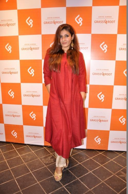 Raveena Tondon Attend The Launch Of Anita Dongre's New Line