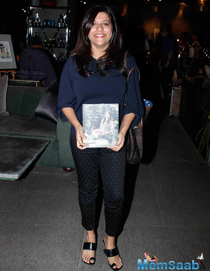 Filmmaker Zoya Akhtar Poses With A Copy Of The Book