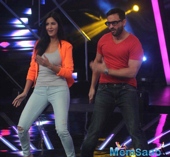 Saif And Katrina Promote Phantom On The Stage Of Indian Idol Junior