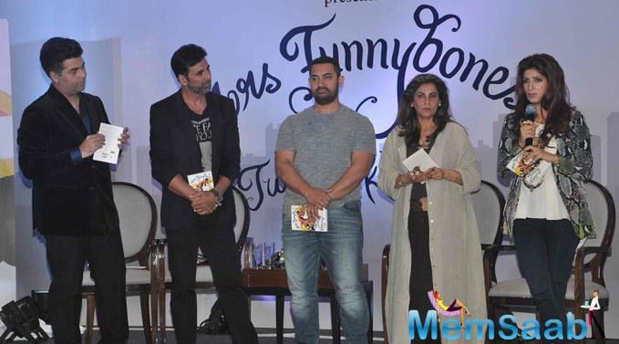 Bollywood Celebs Attend The Book Launch Of Mrs Funnybones Writing By Twinkle