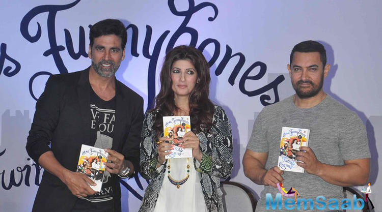 Twinkle Khanna Book Launch By Her Hubby Akshay And Bollywood Star Aamir