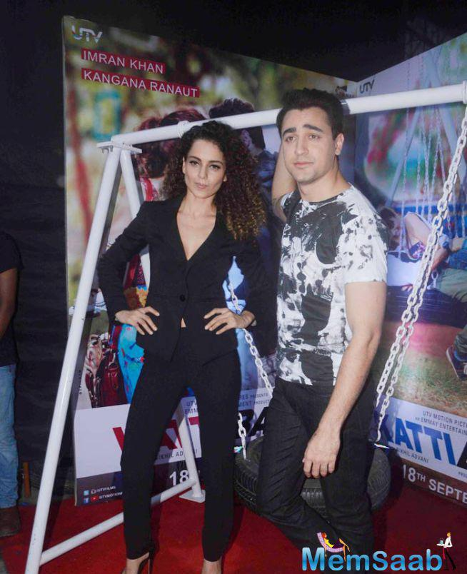 Kangana And Imran Pose For The Shutterbugs, The Uno Also Shook A Leg On Their New Song 'Sirfira' From Their Film