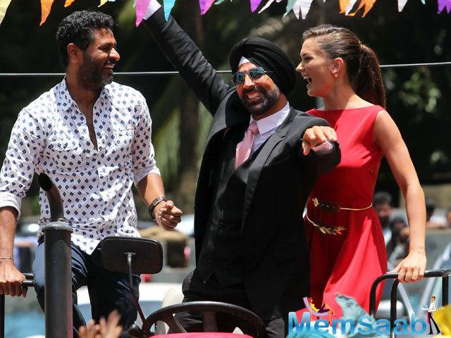 Akshay Kumar, Prabhu Deva And Amy Jackson At The Trailer Launch Event In Mumbai