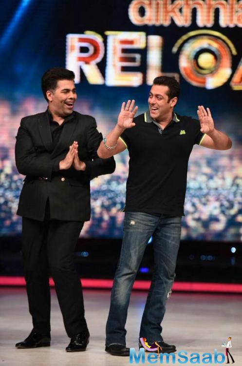 Salman Promote His Production Banners Latest Release Hero And Fun With Karan
